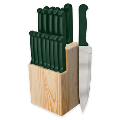 Ginsu Quikut 20-Piece Knife Block Cutlery Set in Green