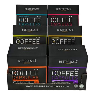 Bestpresso 120-Count Variety Pack Nespresso® Compatible Gourmet Coffee Capsules