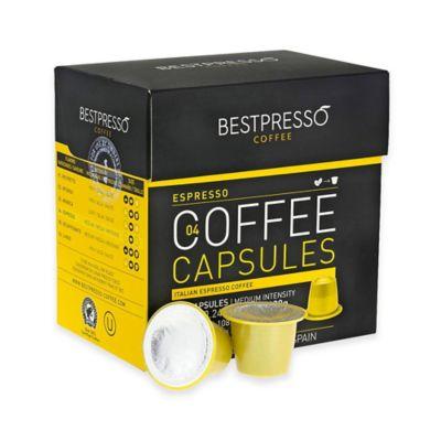 Bestpresso 120-Count Espresso Nespresso® Compatible Gourmet Coffee Capsules