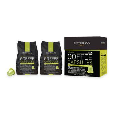 Bestpresso 80-Count Arabica Nespresso® Compatible Gourmet Coffee Capsules