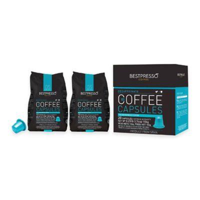 Bestpresso 80-Count Decaffeinato Nespresso® Compatible Gourmet Coffee Capsules
