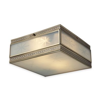 ELK Lighting Conley 2-Light Flush Mount Light in Brushed Brass