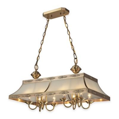ELK Lighting Conley 8-Light Island Candelabra Light in Brushed Brass