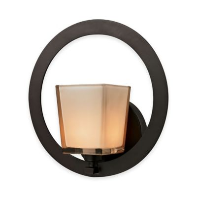 Elk Lighting Serenity 1-Light Wall Sconce in Oil Rubbed Bronze with Glass Shade