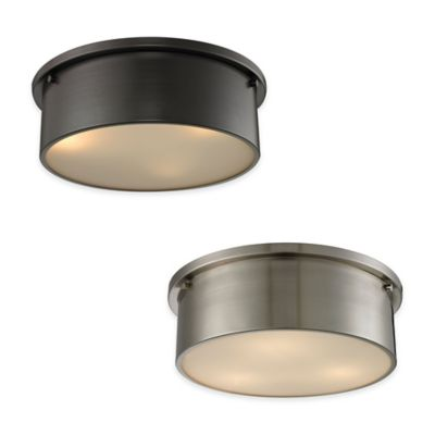 ELK Lighting Simpson 3-Light Flush-Mount Ceiling Light in Oil Rubbed Bronze