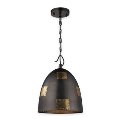 Elk Lighting 54-Inch Strasburg Pendant Light in Iron/Antique Gold