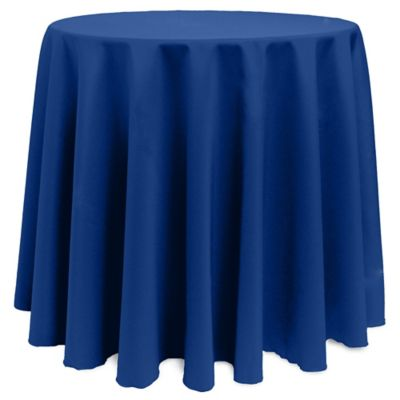 Basic 120-Inch Round Tablecloth in Periwinkle