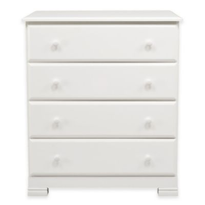 DaVinci Kalani 4-Drawer Dresser in White