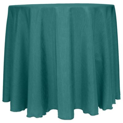 Majestic Satin Finished 108-Inch Round Tablecloth in Light Blue