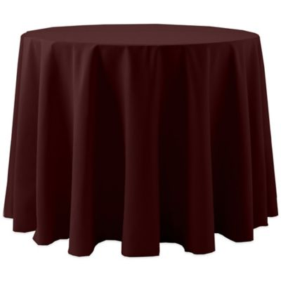 Spun Polyester 90-Inch Round Tablecloth in Brick