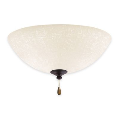 Emerson White Linen LED Bowl Light for Ceiling Fan in Oil Rubbed Bronze