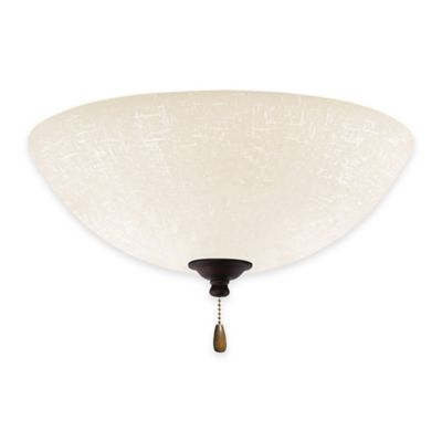 Emerson White Linen LED Bowl Light for Ceiling Fan in Venetian Bronze