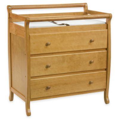 DaVinci Emily 3-Drawer Changer Dresser in Honey Oak