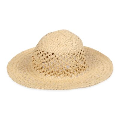 carter's® Size 0-9M Floppy Straw Sun Hat