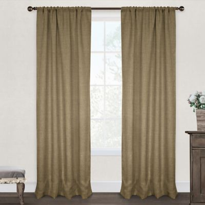 Burlap 96-Inch Rod Pocket Window Curtain Panel Pair in Natural