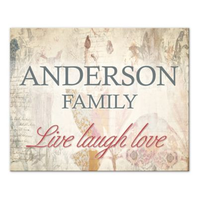 """Live Laugh Love"" Family Sign Canvas Wall Art"