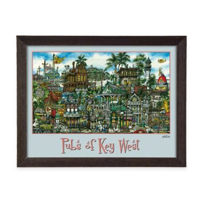 Pubs of Key West Framed Wall Art
