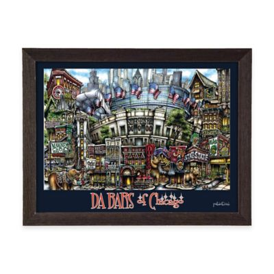 Da Bars of Chicago Framed Wall Art