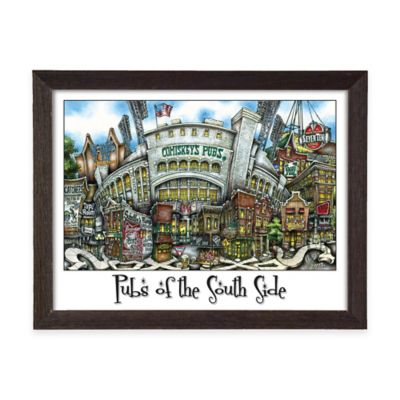 Pubs of South Side Framed Wall Art