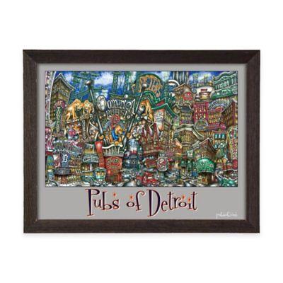 Pubs of Detroit Framed Wall Art
