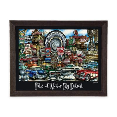 Pubs of Motor City Detroit Framed Wall Art