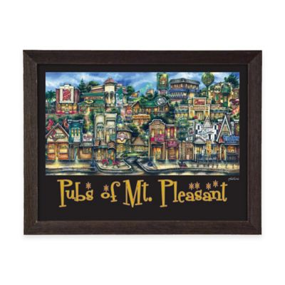 Pubs of Mount Pleasant Framed Wall Art