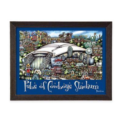 Pubs of Cowboys Stadium Framed Wall Art