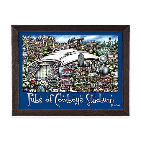 Pubs of cowboys stadium framed wall art bed bath beyond for Dallas cowboys stadium wall mural