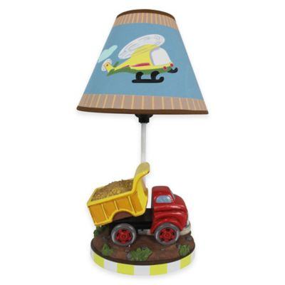 Teamson Fantasy Fields Transportation Kids' Table Lamp with Canvas Shade