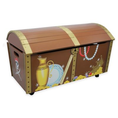 Teamson Fantasy Fields Pirate Island Toy Storage Box