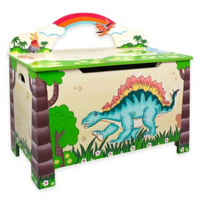 Teamson Fantasy Fields Dinosaur Kingdom Toy Storage Box