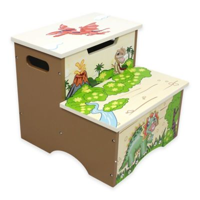 Teamson Fantasy Fields Dinosaur Kingdom Kids Step Stool