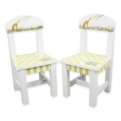 Teamson Fantasy Fields Alphabet Kids Wooden Chair (Set of 2)