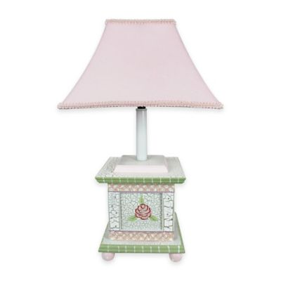 Fantasy Fields Crackled Rose Kids Table Lamp