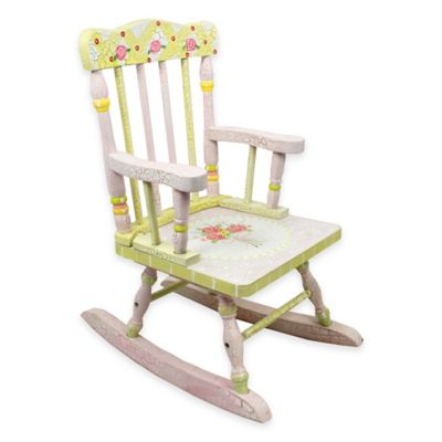 Fantasy Fields Kids Rocking Chair in Crackled Rose
