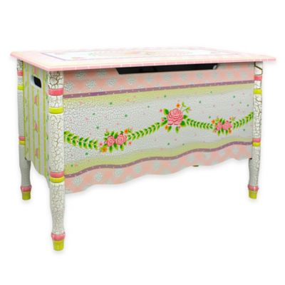 Fantasy Fields Toy Storage Box in Crackled Rose