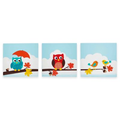Teamson Enchanted Woodland Children's Canvas Wall Art (Set of 3)
