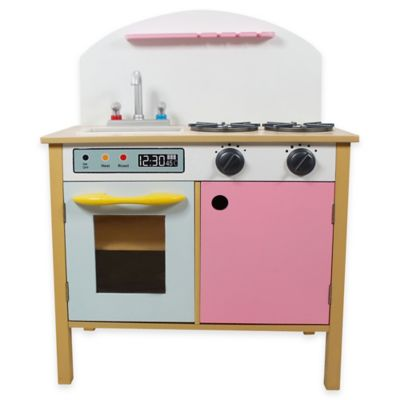 Teamson Kids Dual Doors Play Kitchen Set in Pink