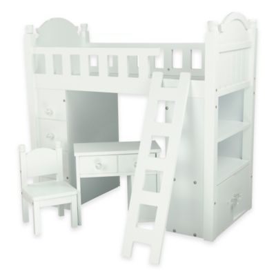 Olivia's Little World My Sweet Girl 18-Inch Doll Furniture Bunk Bed in White