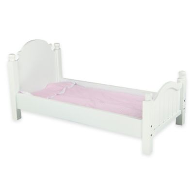 Teamson Kids My Sweet Girl 18-Inch Doll Furniture Single Bed in White