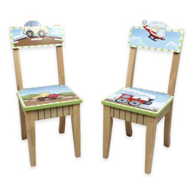Teamson Fantasy Fields Transportation Kids Chair (Set of 2)