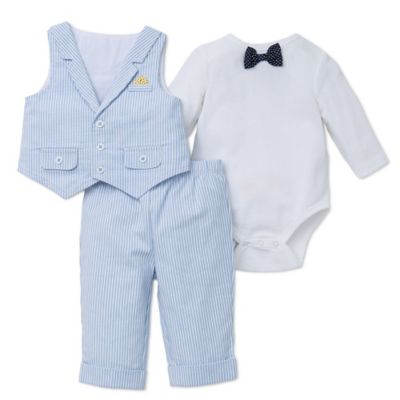 Blue Vest and Pant Set