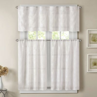 Madison Park Gemma 24-Inch Sheer Window Curtain Tier Pair