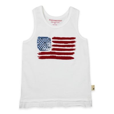 Burt's Bees Baby® Size 4T Organic Cotton American Flag Tank Top