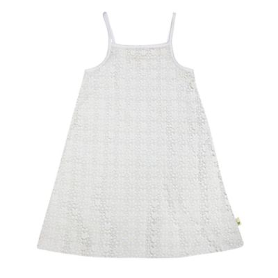 Burt's Bees Baby® Size 18M Organic Cotton Sleeveless Crochet Layer Dress in Cloud