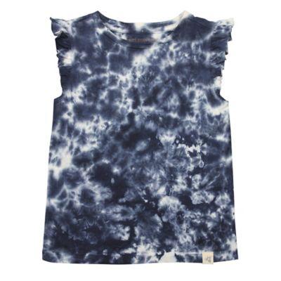 Burt's Bees Baby® Size 9M Organic Cotton Flutter Sleeve Tie Dye T-Shirt in Grey/White
