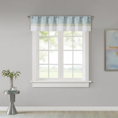 Madison Park Carter Window Valance in Green