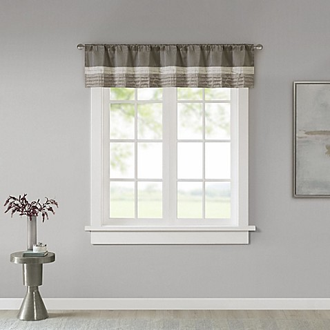 Madison Park Amherst Window Valance in Natural