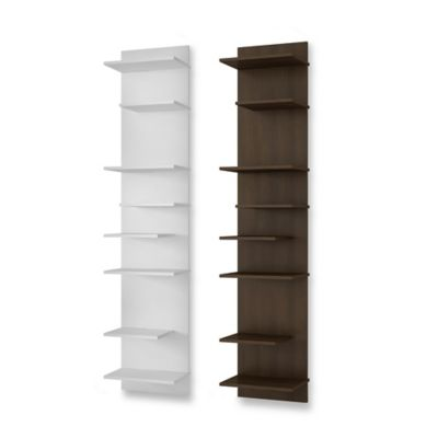 Manhattan Comfort Nelson 8-Shelf Floating Panel in Tobacco