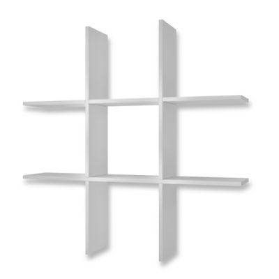 Manhattan Comfort Taranaki Tic-Tac-Toe Shelf in White